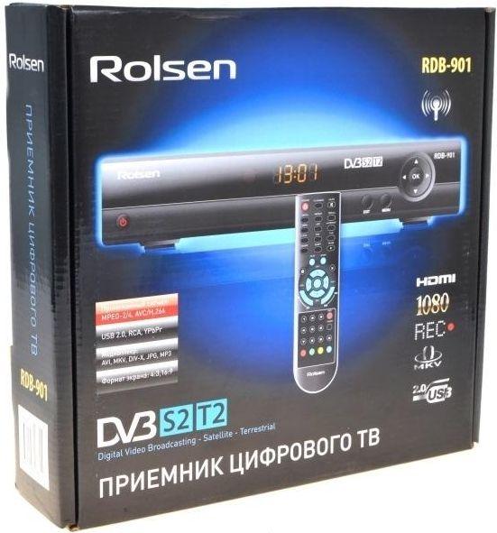 Телевизионная приставка Rolsen RDB-901 (DVB-S2+ DVB-T2) + Медиаплеер