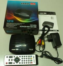 Телевизионная приставка КВАНТ МА1210 (DVB-T2) + Медиаплеер